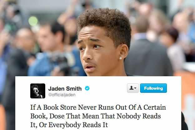 Jaden Smith Jaden Smith Quotes Tweets Deep