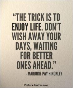 inspirational pictures,the-trick-is-to-enjoy-life-dont-wish-away-your-days-waiting-for-better-ones-ahead-quote-92,motivational pictures